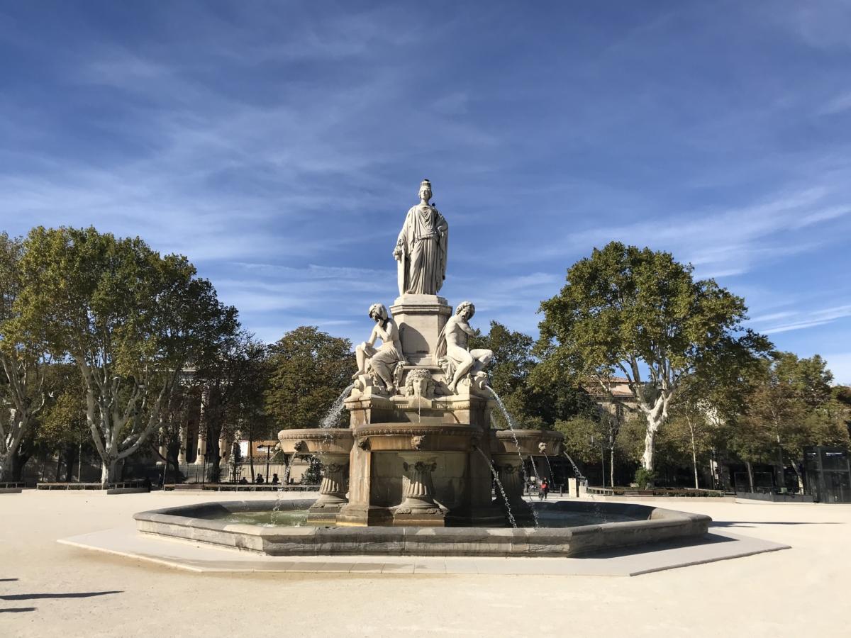 Statuie Parc Nimes