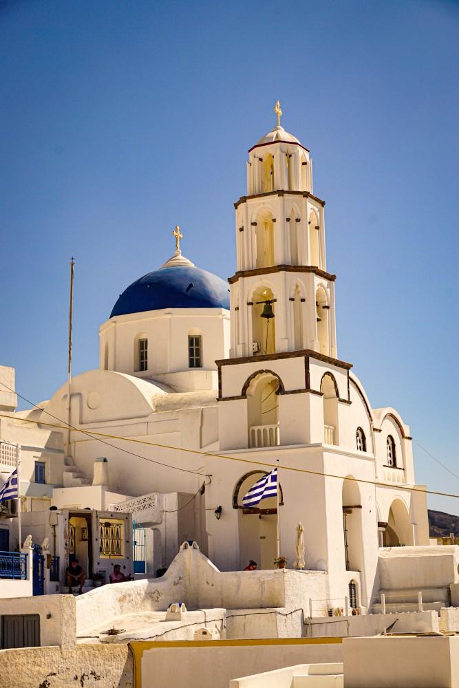 Pyrgos Santorini Biserica Vacanta