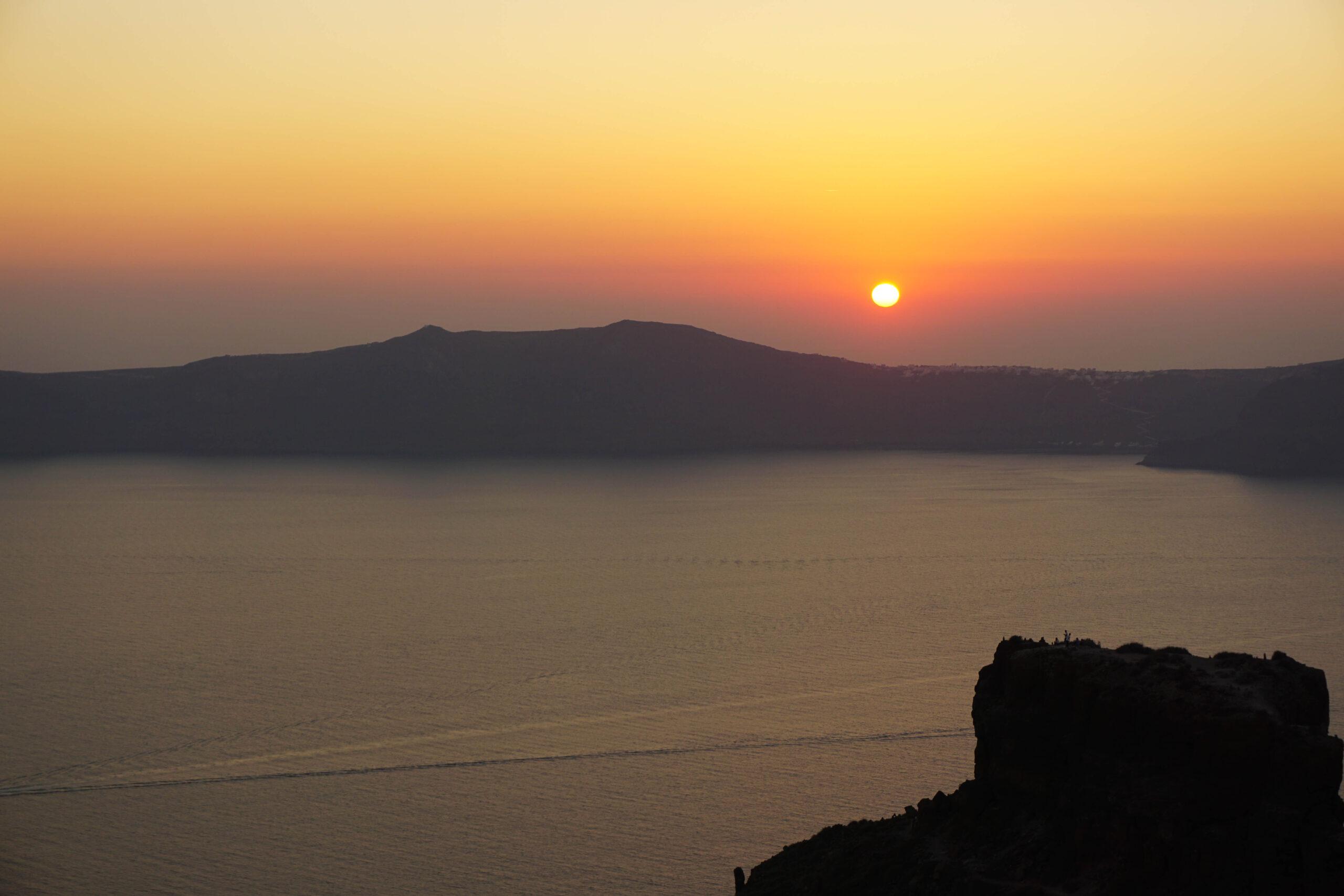 Insula Santorini Apus