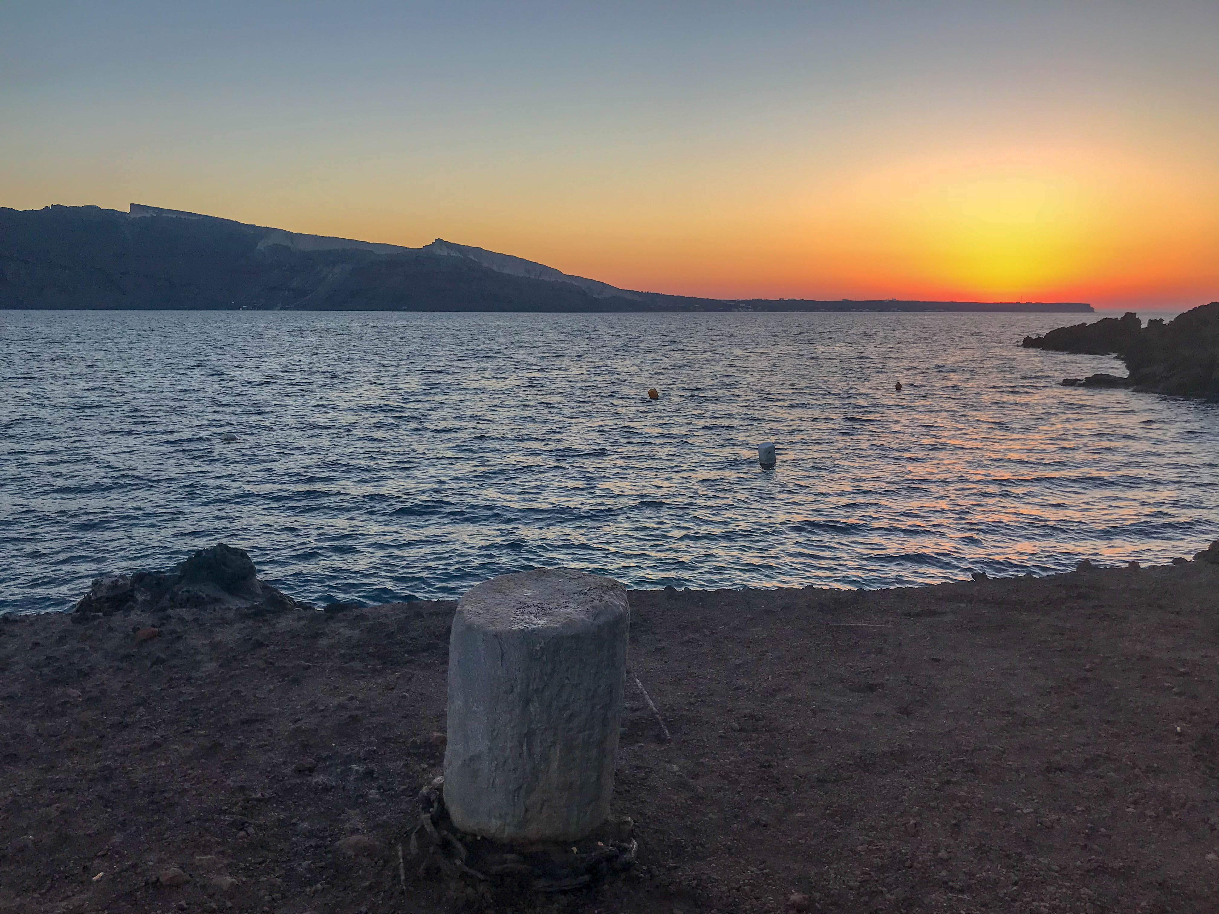 Santorini Apus Ghid